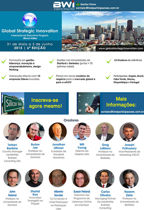 Global Strategic Innovation – Missão Internacional de Negócios Vale do Silício